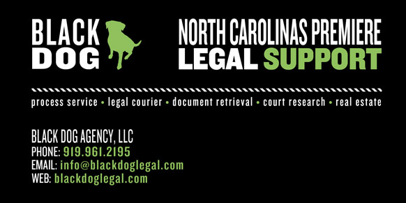 Black Dog Agency - North Carolina Legal Support, Process Service, Document Retrieval and Public Record Research